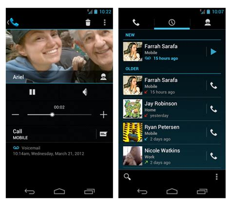 android voicemail app voice for android app now integrates ics visual voicemail 9to5google
