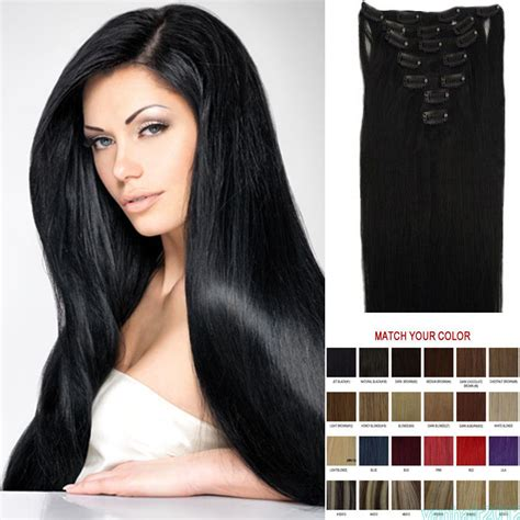 real human hair extensions 7pcs clip in remy real human hair extensions straight