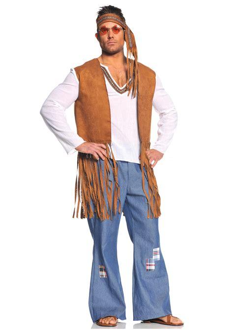 men style 60 plus right on hippie costume