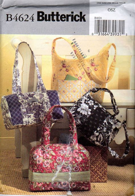 purse pattern shoulder bag pattern mccalls 2378 tote handbags sewing patterns pre quilted fabric handbags