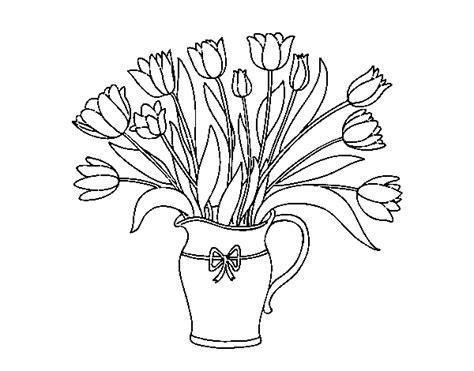 vasi per tulipani disegno di vaso di tulipani da colorare acolore