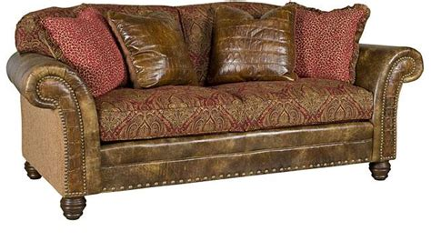 sofa leather fabric combination king hickory