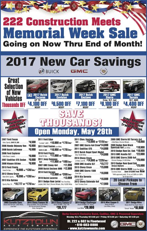 newspaper car ads kutztown auto newspaper ads gmc dealership ads in fleetwood