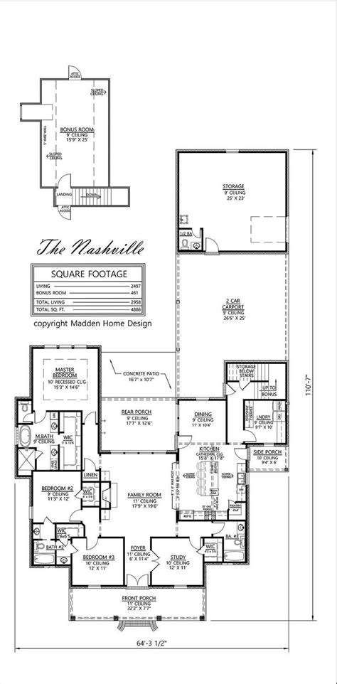 madden home design the nashville madden home design the nashville house plans