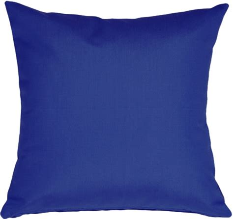 Outdoor Fabric by Sunbrella True Blue 20x20 Outdoor Pillow From Pillow Decor