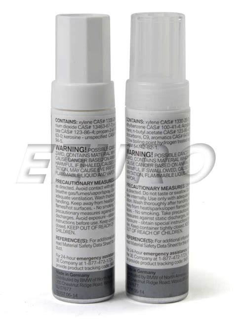 genuine bmw touch up paint code 354 titanium silver