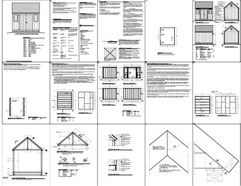 colonial shed plans   learn diy building shed