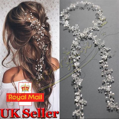 Wedding Hair Pieces by Pearls Wedding Hair Vine Bridal Accessories