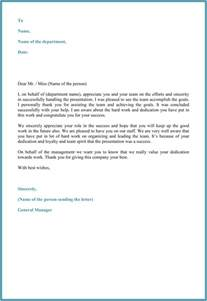 Appreciation Letter For Employee Performance Appreciation Letter 5 Plus Printable Sample Letters