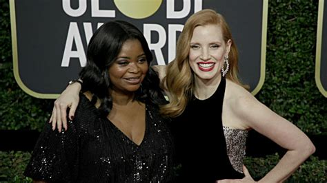 octavia spencer jessica chastain comedy the help stars octavia spencer jessica chastain