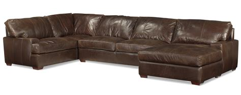 Leather Chaise Sofa Usa Premium Leather 3635 Track Arm Sofa Chaise Sectional W Block Olinde S Furniture