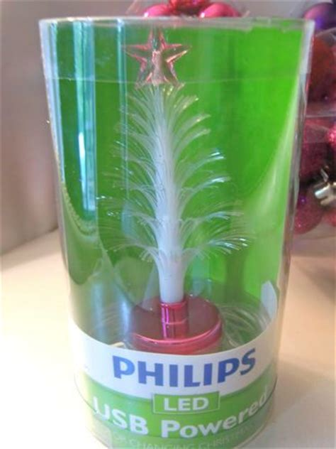 philips led usb powered color changing christmas tree