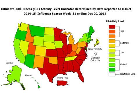 2015 flu map flu epidemic declared in usa the flu vaccine is