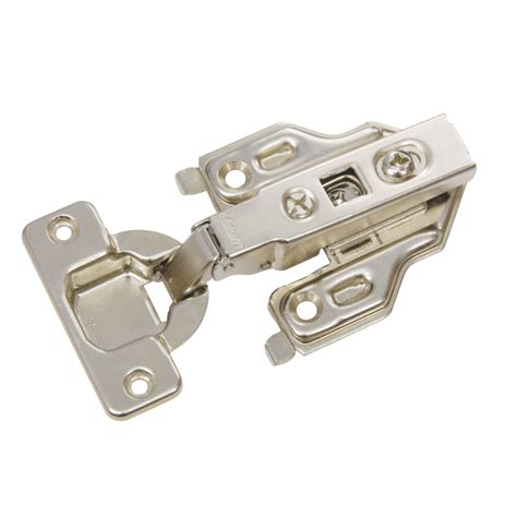 shop blum 2 pack 4 5 in x 2 25 in brushed nickel concealed