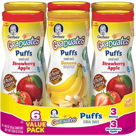 Gerber Graduates Puff By Susupedia gerber graduates puffs cereal snack 6 pk 1 5 oz bj s
