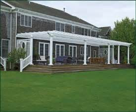 How To Attach Pergola To Deck by Attached Deck Pergola Pergolas From Walpole Woodworkers
