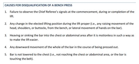 bench press rules is arching in the bench press unsafe or quot cheating quot barbend