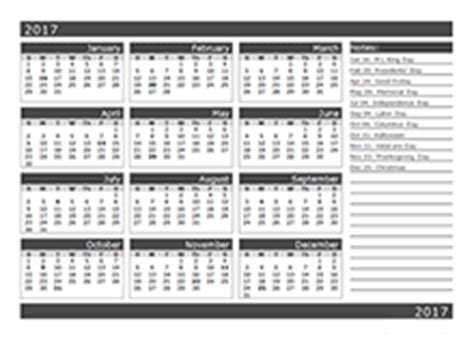 6 Month Calendar 2017 2017 Calendar Template Year At A Glance Free Printable