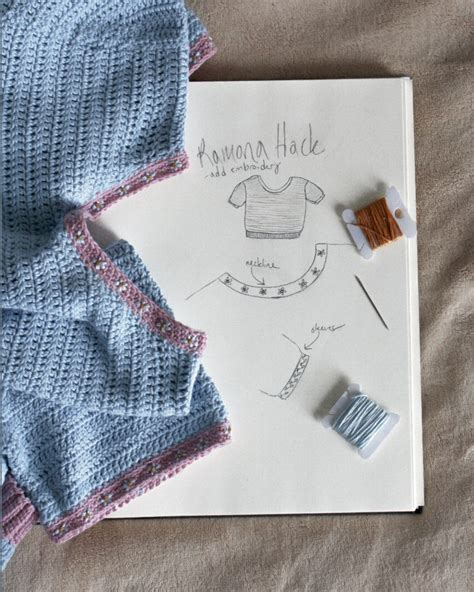 pattern hacker pattern hack embroidered ramona cropped ringer tee