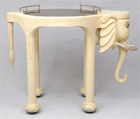 high top bar tables and stools marge carson elephant high top bar table and stools at 1stdibs