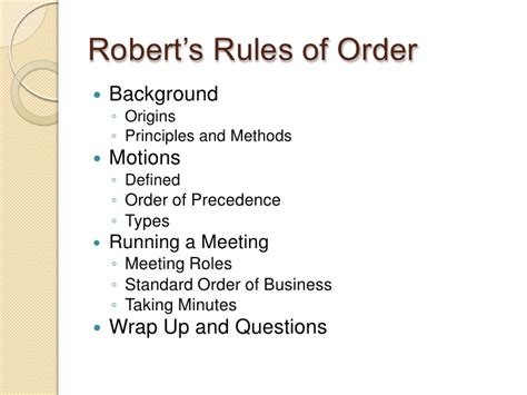robert of order agenda template robert s of order minutes sogol co