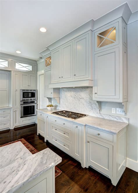 light gray cabinets transitional kitchen benjamin gray owl frey kitchen design