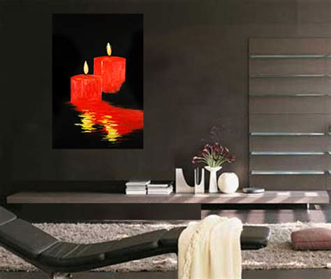 Abstract Romantic Candles Feng Shui Bedroom Painting Ebay