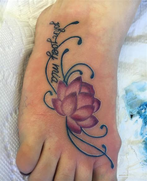lotus foot tattoo 26 lotus flower designs ideas design trends