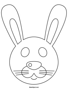 bunny mask coloring pages rabbit mask to color bunny mask coloring page bunny mask