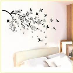 black butterfly tree flower removable wall decals sticker mural home stickers interior design ideas