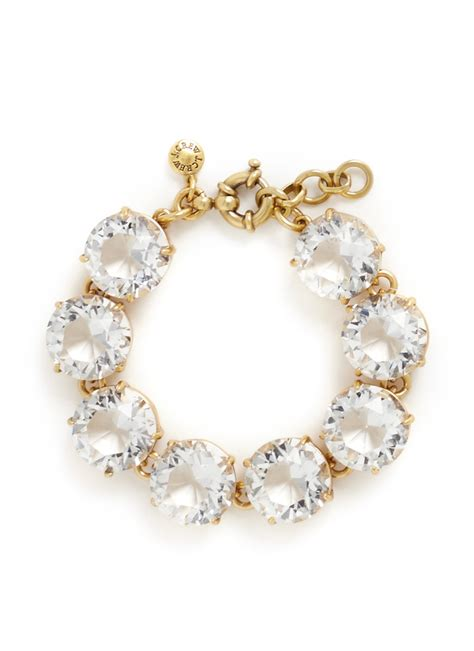 j crew mixed bracelet in metallic lyst