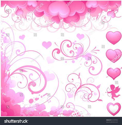 valentines day items valentines day items stock vector illustration 52339762