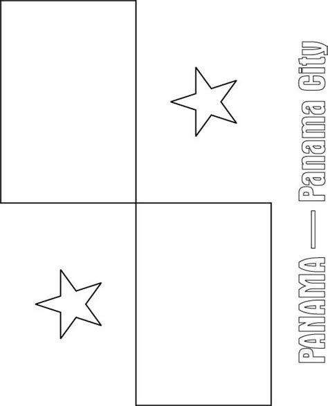 Panama Flag Coloring Page panama flag free coloring pages