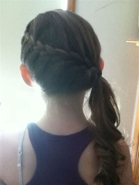 french braids pin up on the sid for black woman side french braid into side ponytail then curl unbraided