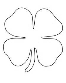 clover coloring page pictures of four leaf clover cliparts co