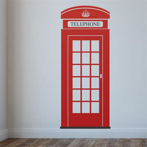 Banksy Wall Art Stickers london telephone box wall sticker wallboss wall stickers