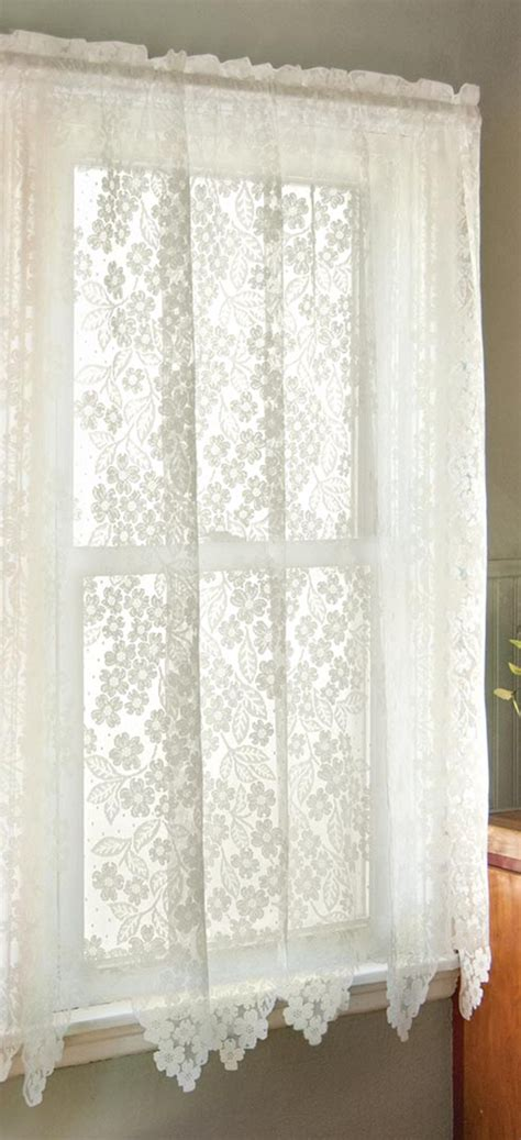 rose lace curtains dogwood lace curtain panels heritage lace heritage lace