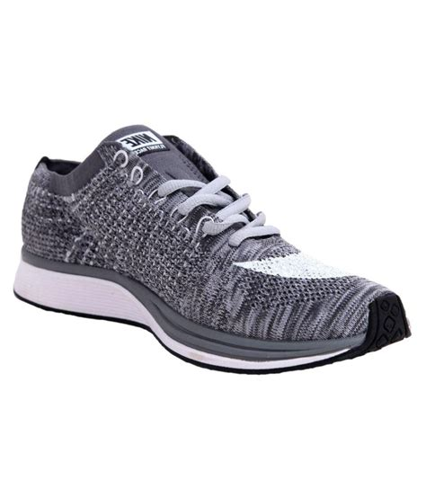 Nike Flyknit Racer Black Grey Premium Quality 1 nike nike flyknit racer gray running shoes buy nike nike