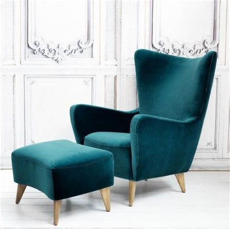 armchair and footstool elsa chair and footstool in turquoise velvet view all furniture furniture for