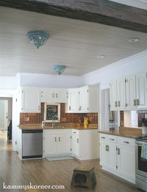 White Paneling In Kitchen by Hometalk White Washed Paneling A Kitchen Ceiling
