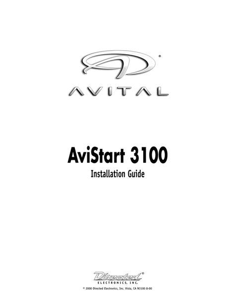 Avital AviStart 3100, 3100 Installation guide | Manualzz
