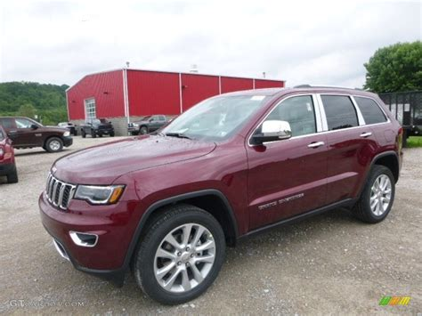 jeep grand cherokee limited 2017 red 2017 velvet red pearl jeep grand cherokee limited 4x4