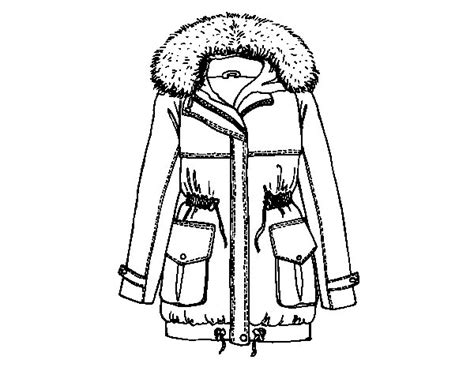 winter coat coloring page coloringcrew com