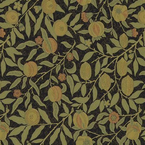 Lorient Decor Curtain Fabric Fruit Fabric Black Claret 230286 William Morris Amp Co