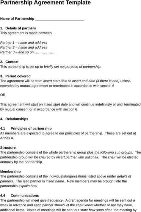 Boat Partnership Agreement Template by Boat Partnership Agreement Template Emsec Info