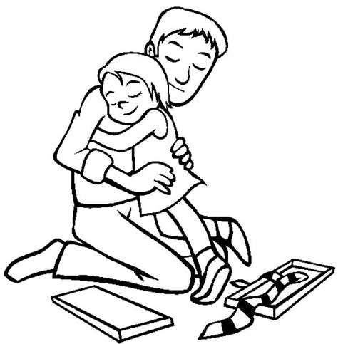 hug me daddy i love dad coloring pages coloring pages