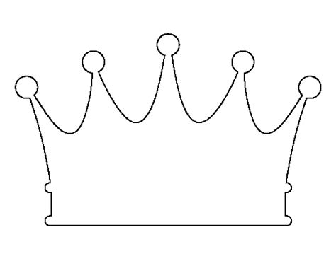 printable baby crown crown pattern use the printable outline for crafts