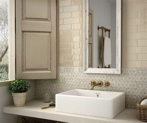 country style bathroom tiles country vision 5x16 shabby chic style bathroom