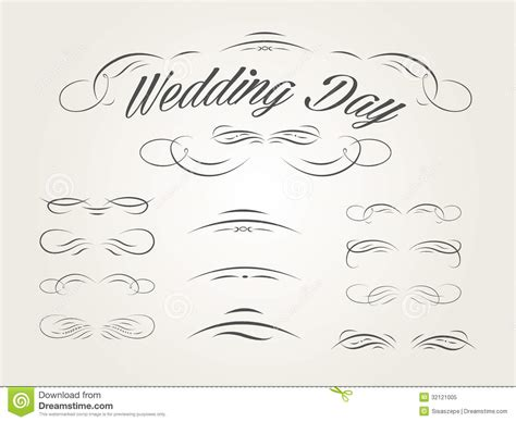wedding design elements vector free vector set of calligraphic design elements for wed royalty