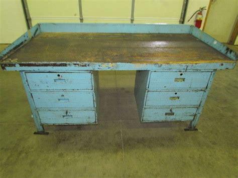 reloading bench top vintage steel reloading bench industrial workbench w 72x36 quot butcher block top ebay